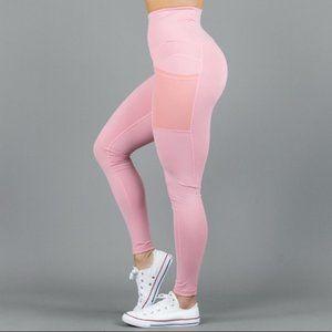 BuffBunny Athena Leggings Pink Mesh Pockets